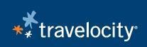 Travelocity logo and link